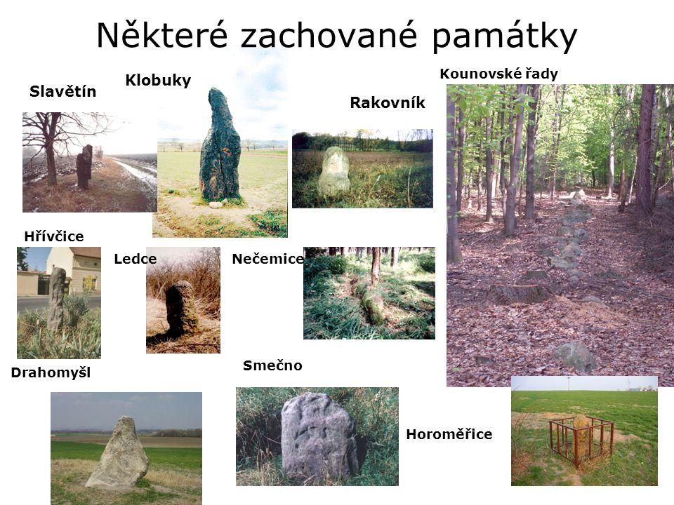Některé zachované památky Kounovské řady Drahomyšl Horoměřice Smečno Hřívčice NečemiceLedce Rakovník Slavětín Klobuky