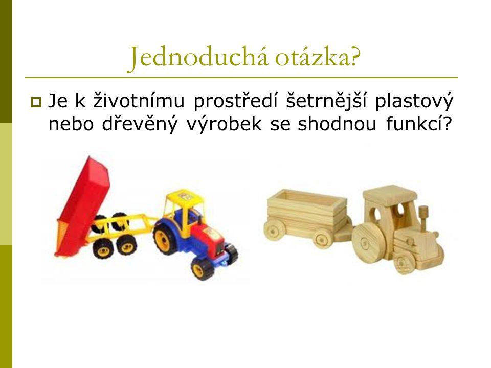 Jednoduchá otázka?  Je k životnímu prostředí šetrnější plastový nebo dřevěný výrobek se shodnou funkcí?