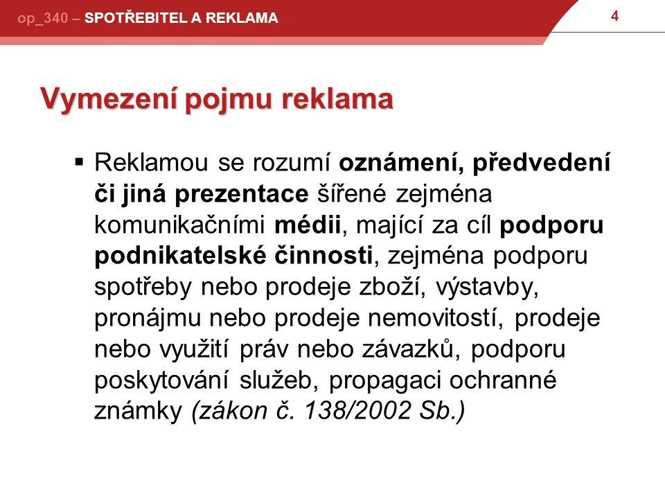 75 op_340 – SPOTŘEBITEL A REKLAMA Co reklama naopak musí.