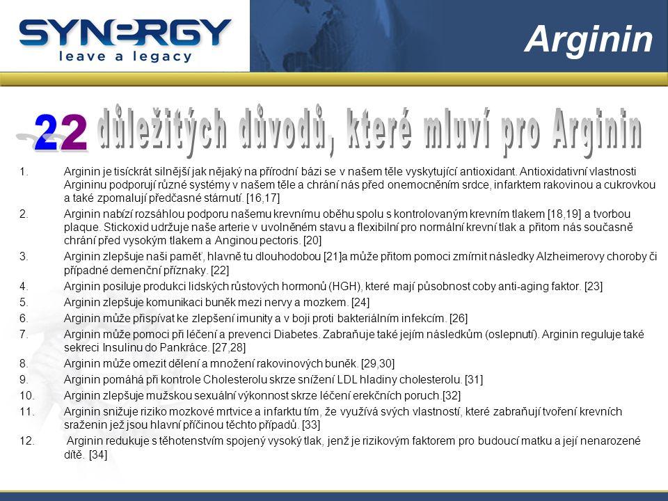 1.Arginin je tisíckrát silnější jak nějaký na přírodní bázi se v našem těle vyskytující antioxidant.