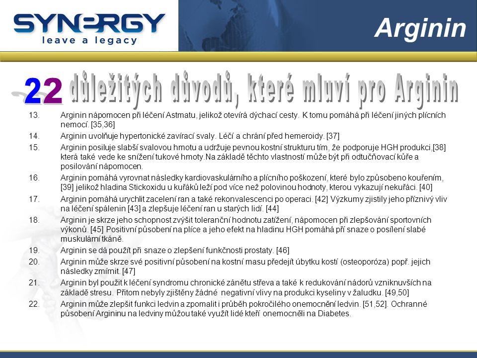 13.Arginin nápomocen při léčení Astmatu, jelikož otevírá dýchací cesty.