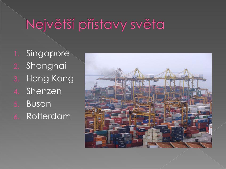 1. Singapore 2. Shanghai 3. Hong Kong 4. Shenzen 5. Busan 6. Rotterdam