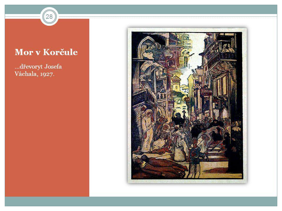 Mor v Korčule …dřevoryt Josefa Váchala, 1927. 28