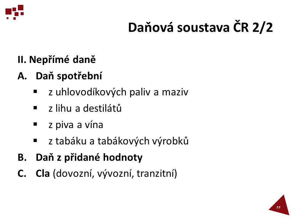 Daňová soustava ČR 2/2 II.