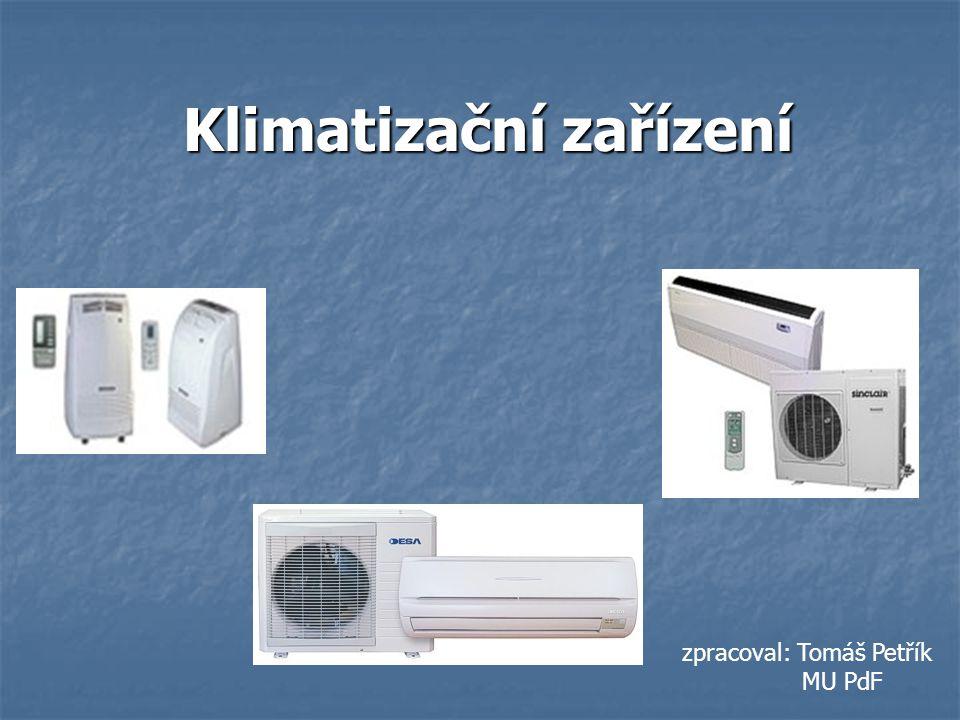 Klimatizační zařízení zpracoval: Tomáš Petřík MU PdF