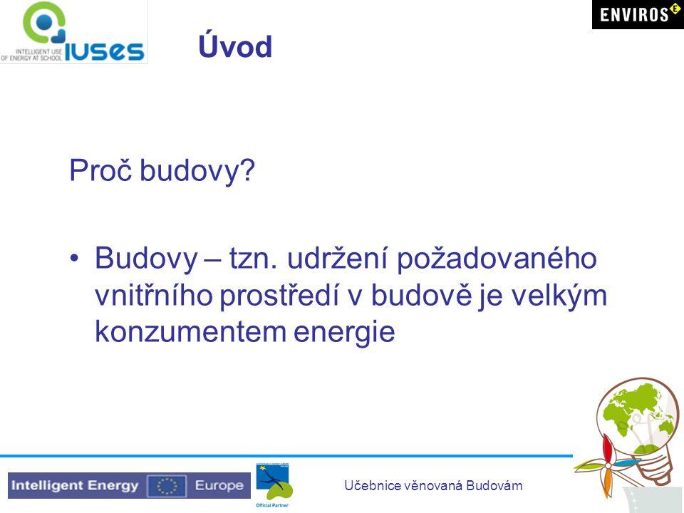 Učebnice věnovaná Budovám Cíl učebnice Seznámení s: •Kde všude je v budovách potřebná energie.