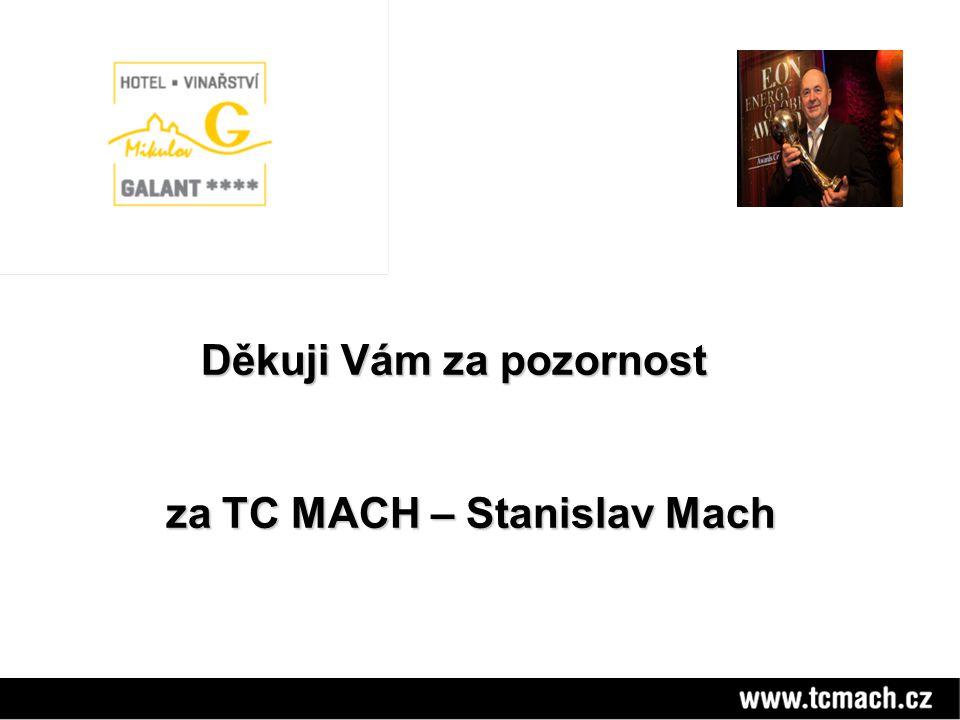 Děkuji Vám za pozornost Děkuji Vám za pozornost za TC MACH – Stanislav Mach za TC MACH – Stanislav Mach