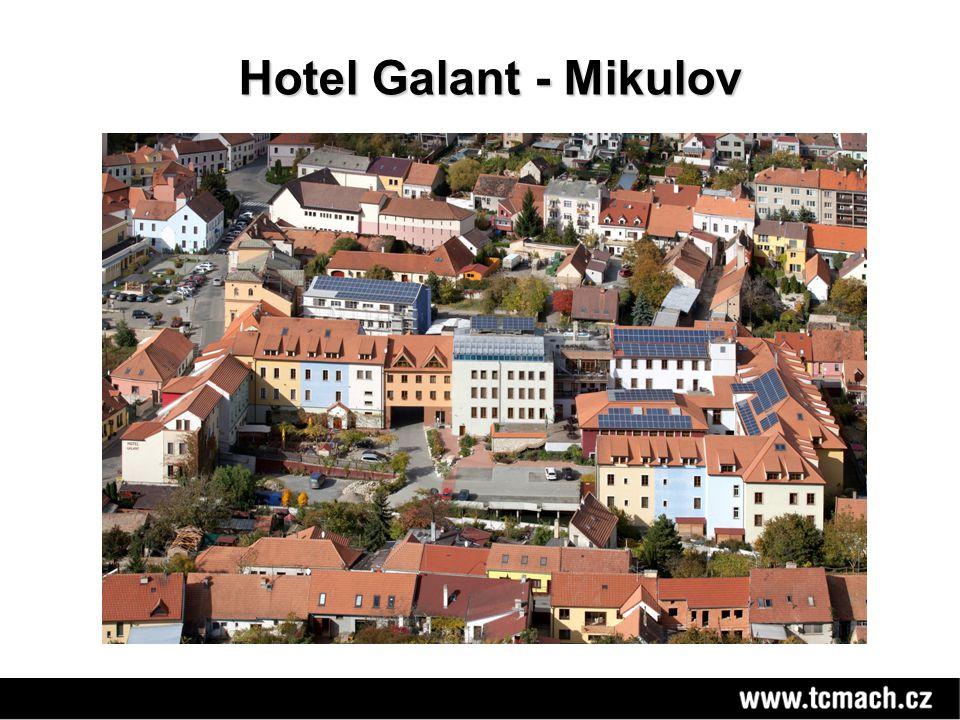 Výhled z wellens Hotelu Galant