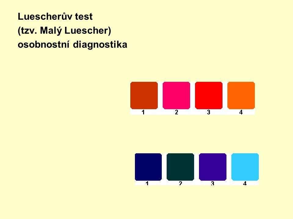 Luescherův test (tzv. Malý Luescher) osobnostní diagnostika