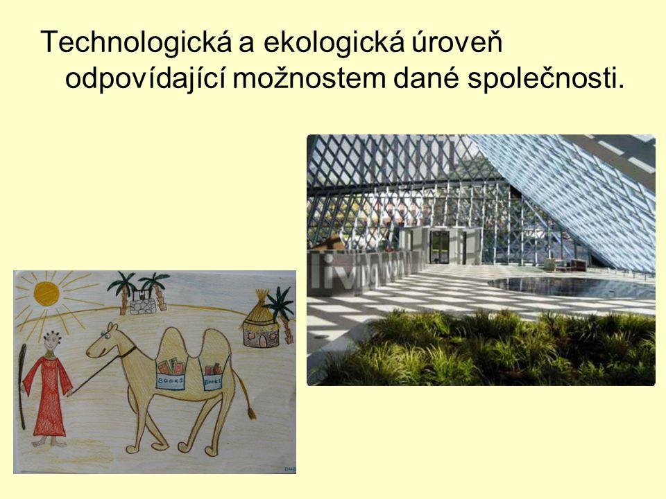 Technologická a ekologická úroveň odpovídající možnostem dané společnosti.
