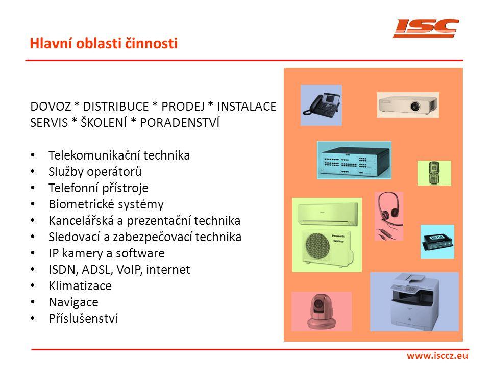 DOVOZ * DISTRIBUCE * PRODEJ * INSTALACE SERVIS * ŠKOLENÍ * PORADENSTVÍ • Telekomunikační technika • Služby operátorů • Telefonní přístroje • Biometric