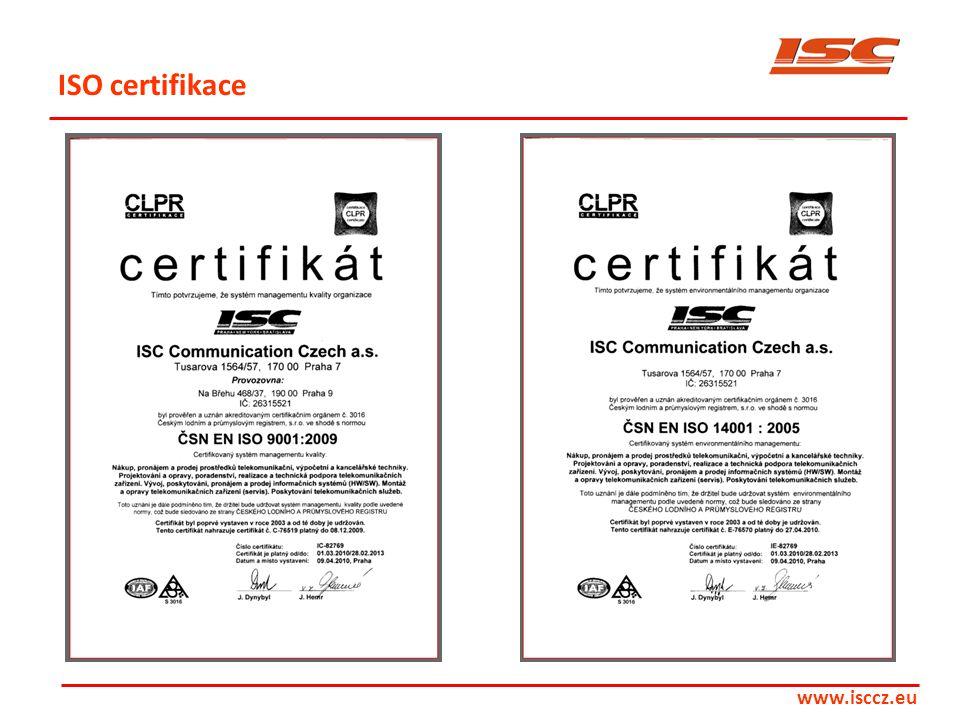 ISO certifikace www.isccz.eu