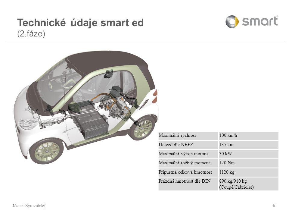 Marek Syrovatský5 Maximální rychlost100 km/h Dojezd dle NEFZ135 km Maximální výkon motoru30 kW Maximální točivý moment120 Nm Přípustná celková hmotnos