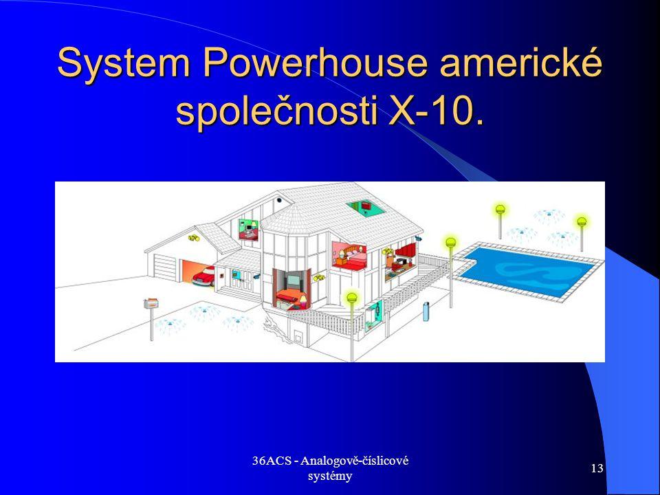 36ACS - Analogově-číslicové systémy 13 System Powerhouse americké společnosti X-10.