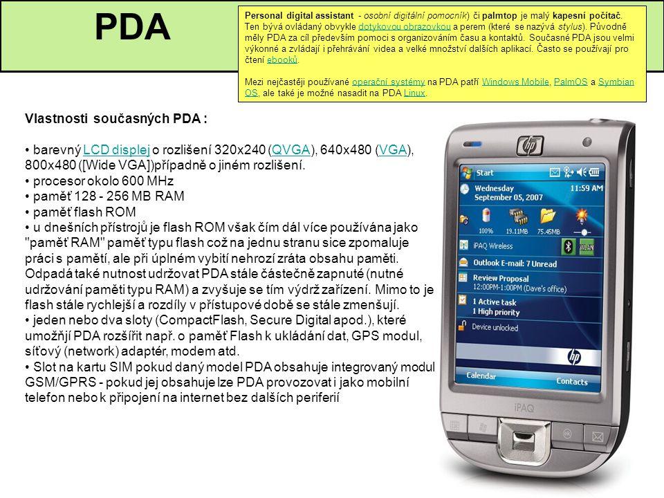 Personal digital assistant - osobní digitální pomocník) či palmtop je malý kapesní počítač. Ten bývá ovládaný obvykle dotykovou obrazovkou a perem (kt