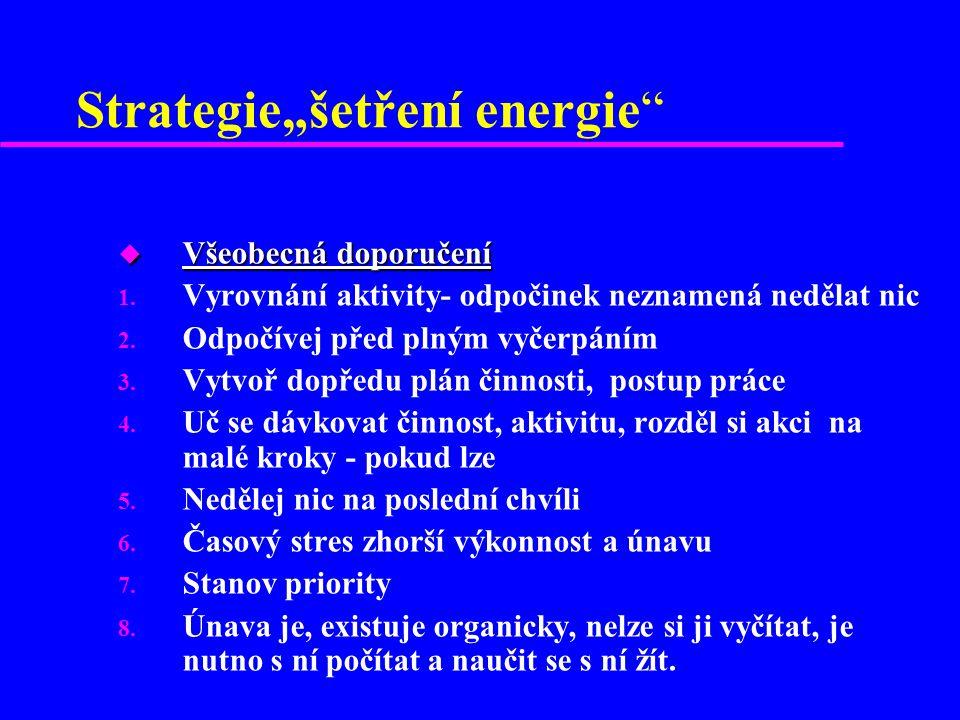"""Strategie""""šetření energie u Všeobecná doporučení 1."""
