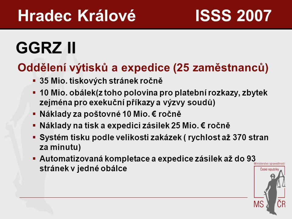 GGRZ II Oddělení výtisků a expedice (25 zaměstnanců)  35 Mio.