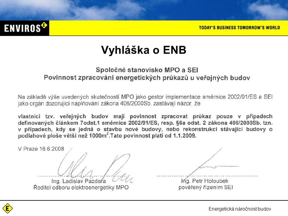 Energetická náročnost budov Vyhláška o ENB