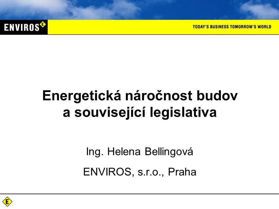 Ing. Helena Bellingová ENVIROS, s.r.o., Praha Energetická náročnost budov a související legislativa