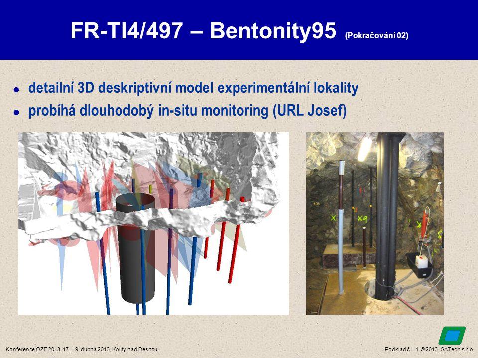 Podklad č. 14. © 2013 ISATech s.r.o.Konference OZE 2013, 17.-19. dubna 2013, Kouty nad Desnou FR-TI4/497 – Bentonity95 (Pokračování 02)  detailní 3D