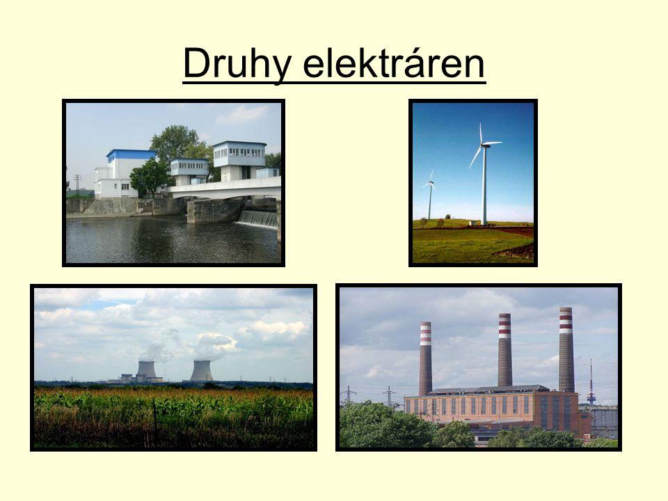Vodní elektrárny •Vodní elektrárny vyrábí asi 17 % elektrické energie.