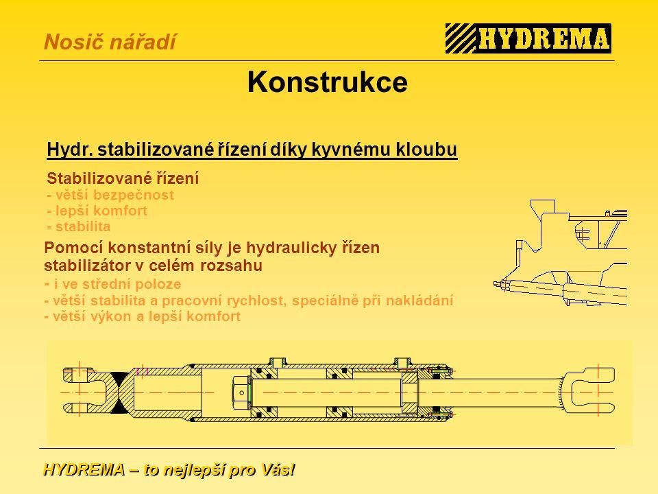 HYDREMA – to nejlepší pro Vás.Nosič nářadí Konstrukce Hydr.