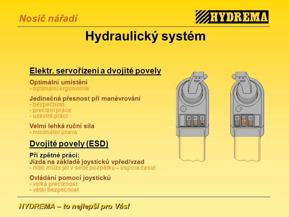 HYDREMA – to nejlepší pro Vás.Nosič nářadí Hydraulický systém Elektr.