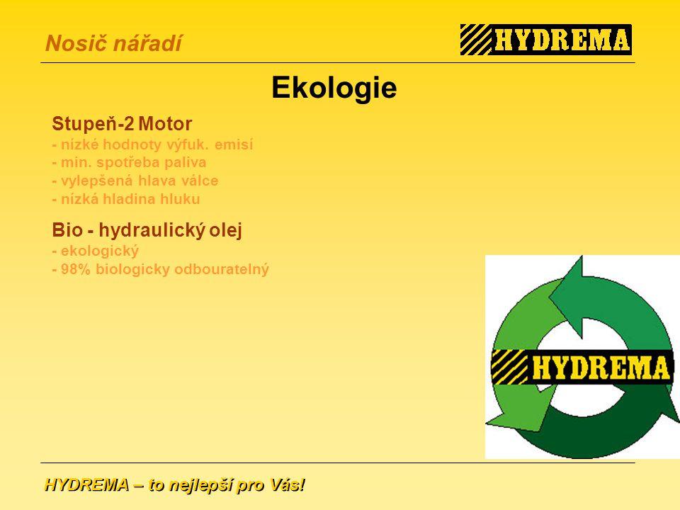 HYDREMA – to nejlepší pro Vás.Nosič nářadí Stupeň-2 Motor - nízké hodnoty výfuk.