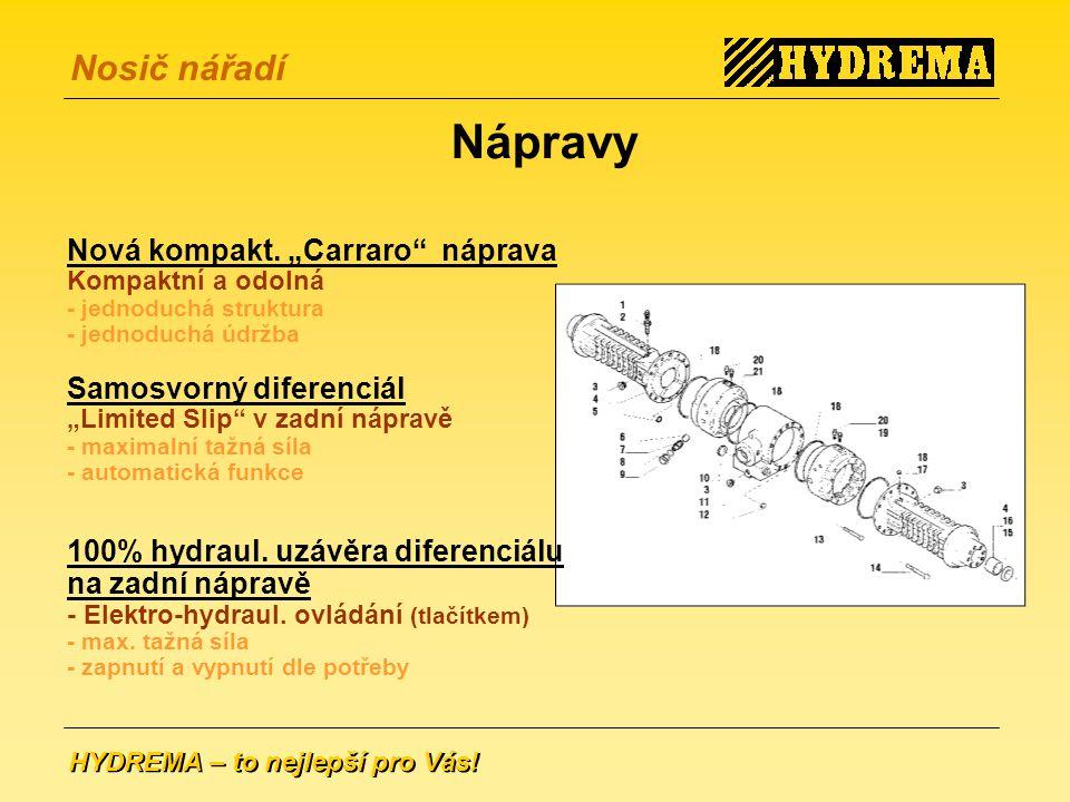 HYDREMA – to nejlepší pro Vás.Nosič nářadí Nápravy Nová kompakt.