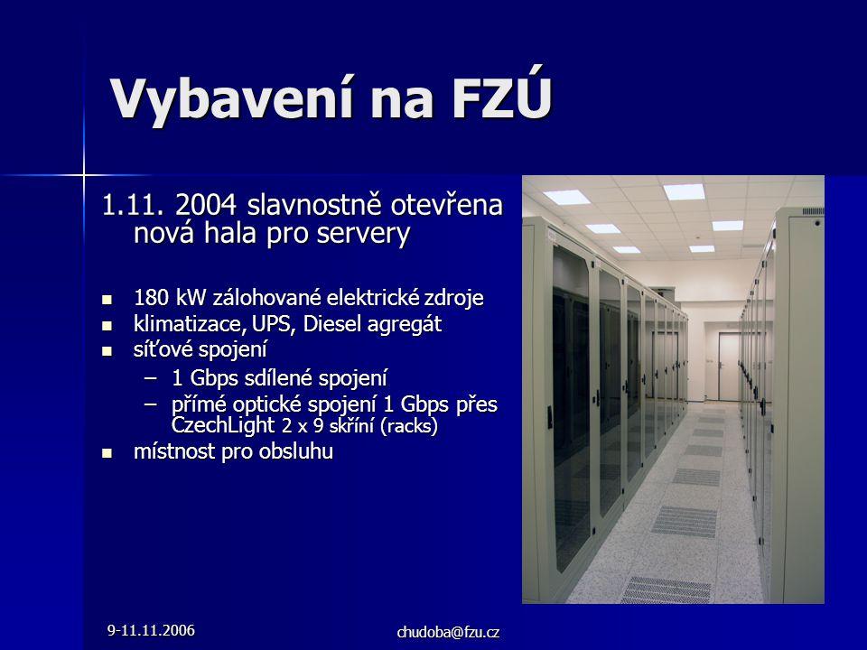 9-11.11.2006 chudoba@fzu.cz Vybavení na FZÚ 1.11.
