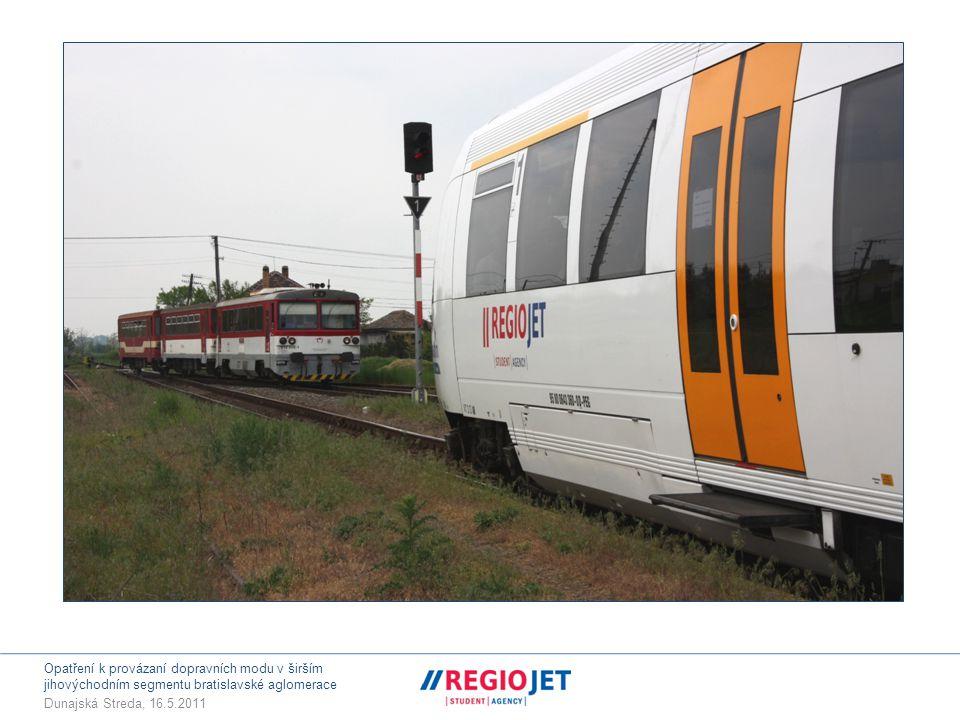 Opatření k provázaní dopravních modu v širším jihovýchodním segmentu bratislavské aglomerace Dunajská Streda, 16.5.2011