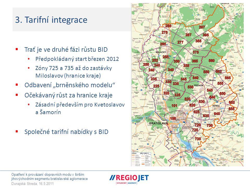 Opatření k provázaní dopravních modu v širším jihovýchodním segmentu bratislavské aglomerace Dunajská Streda, 16.5.2011 3.