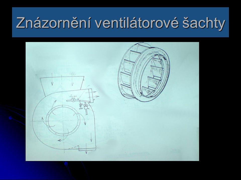 Znázornění ventilátorové šachty