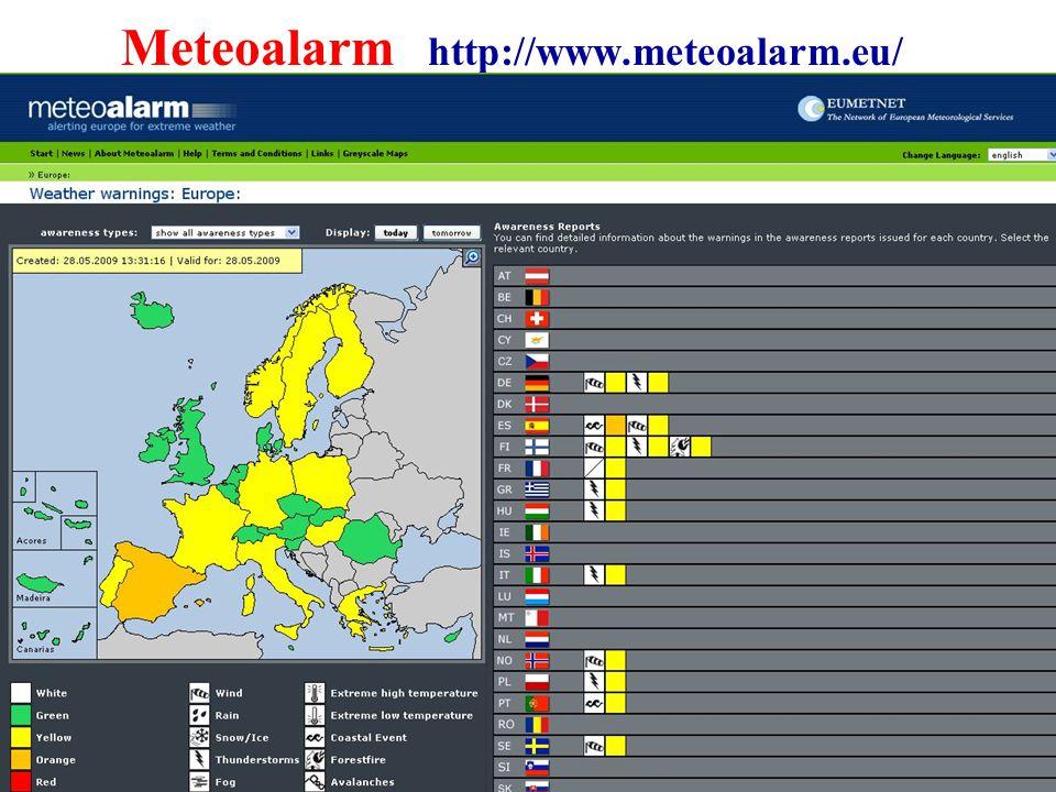 26 Meteoalarm http://www.meteoalarm.eu/
