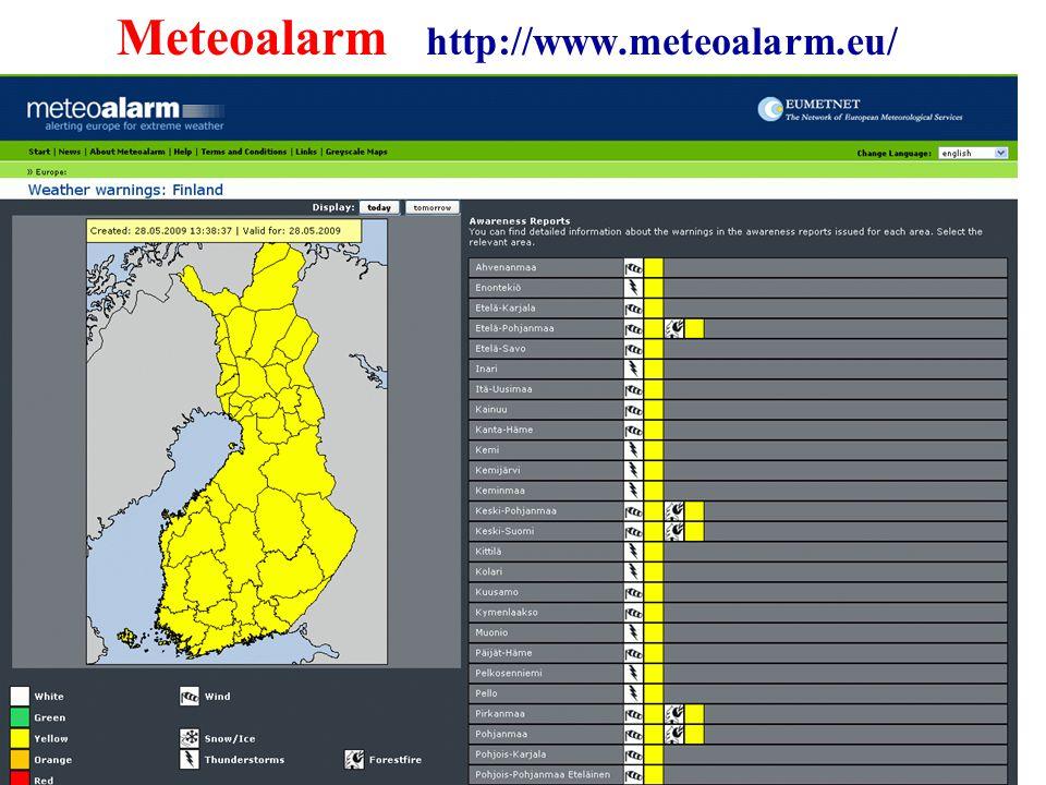 27 Meteoalarm http://www.meteoalarm.eu/