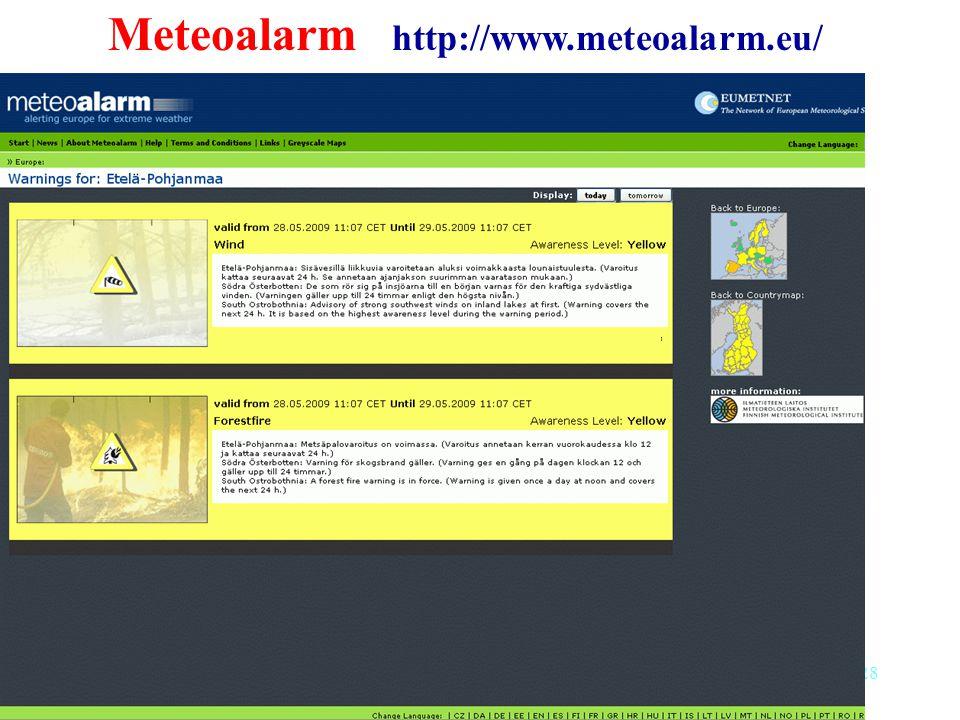 28 Meteoalarm http://www.meteoalarm.eu/