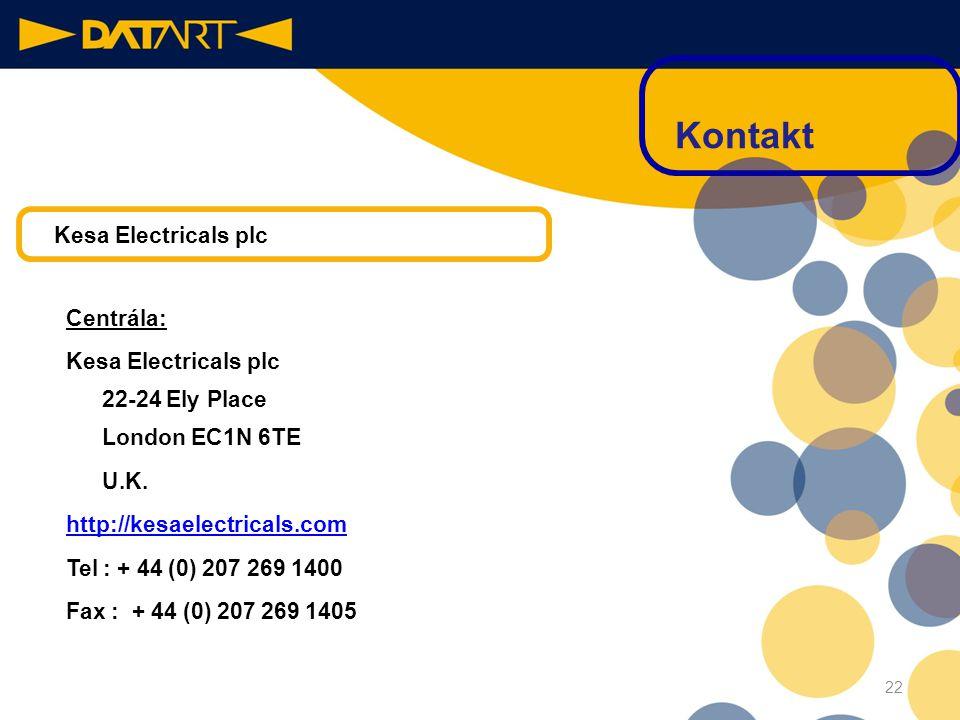 Centrála: Pernerova 35 186 00 Praha 8 – Karlín http://www.datart.cz Tel:+420 22599 1111 Fax:+420 22599 1171 21 Kontakt DATART INTERNATIONAL, a.s.