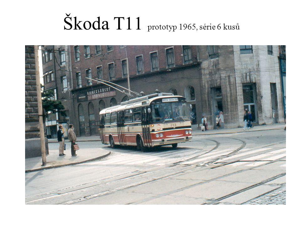 Škoda T11 prototyp 1965, série 6 kusů
