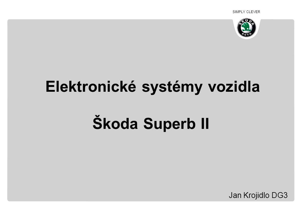 SIMPLY CLEVER Obsah prezentace 1.Představení vozidla Škoda Superb 2.