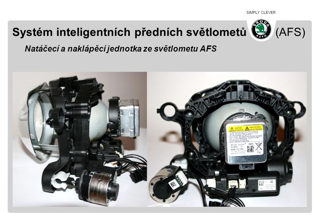 SIMPLY CLEVER Systém inteligentních předních světlometů (AFS) Natáčecí a naklápěcí jednotka ze světlometu AFS