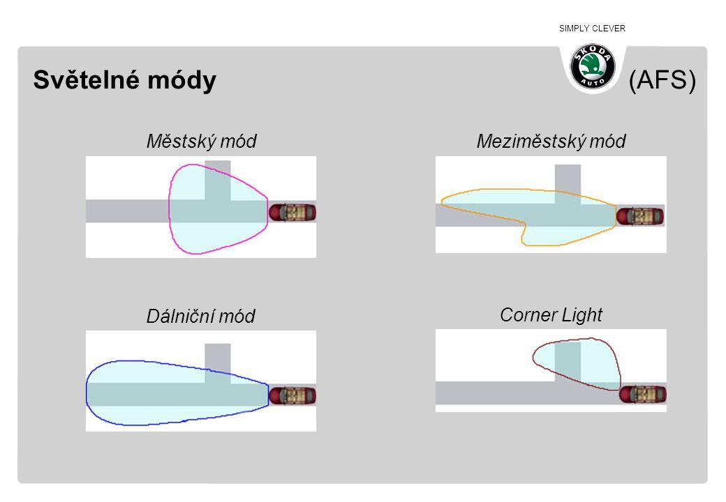 SIMPLY CLEVER Světelné módy (AFS) Městský mód Meziměstský mód Dálniční mód Corner Light