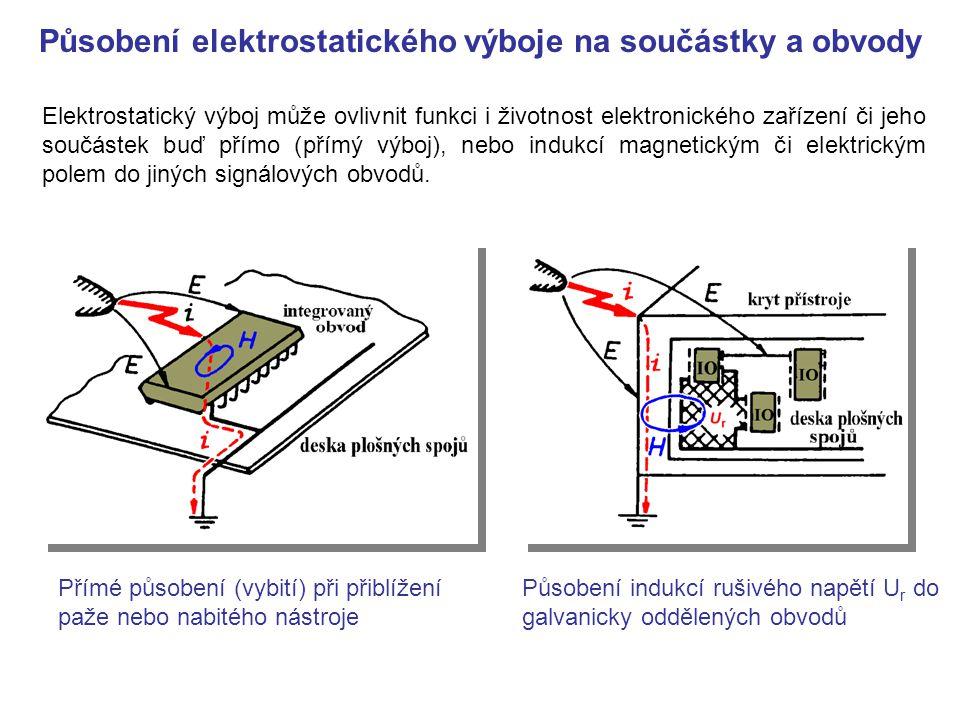 ESD generátor (simulátor) - regulovatelný zdroj vysokého napětí 0 až 18 kV - nabíjecí kondenzátor 150 pF - vybíjecí odpor 330 ohmů - přepínač polarity a vysokonapěťové relé