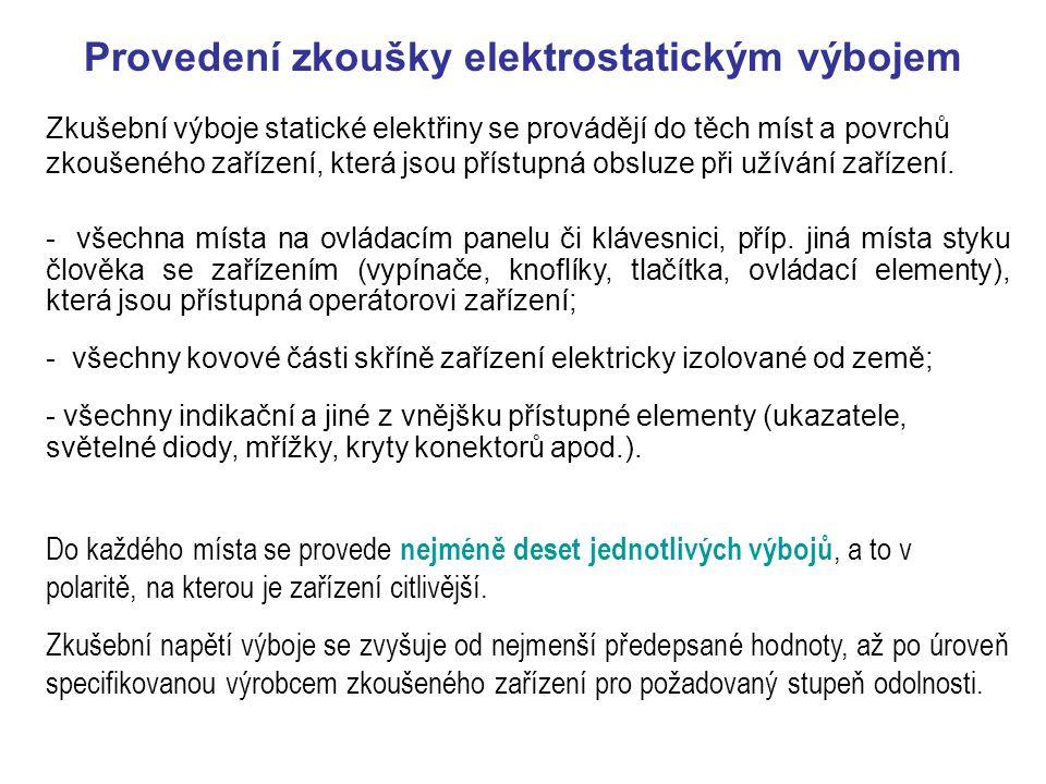 Rychlé elektrické přechodové jevy/skupiny impulzů – zkouška odolnosti ČSN EN 61000-4-2