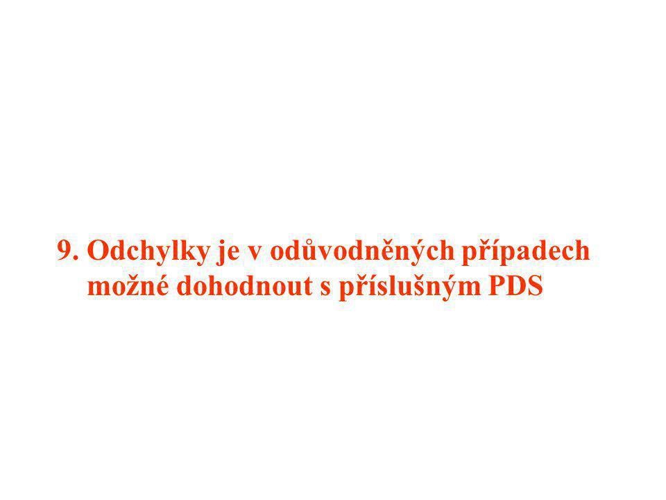 8. Průběh svedení přepětí musí být takový, aby bylo na minimum omezeno působení pojistky v HDS nebo PS