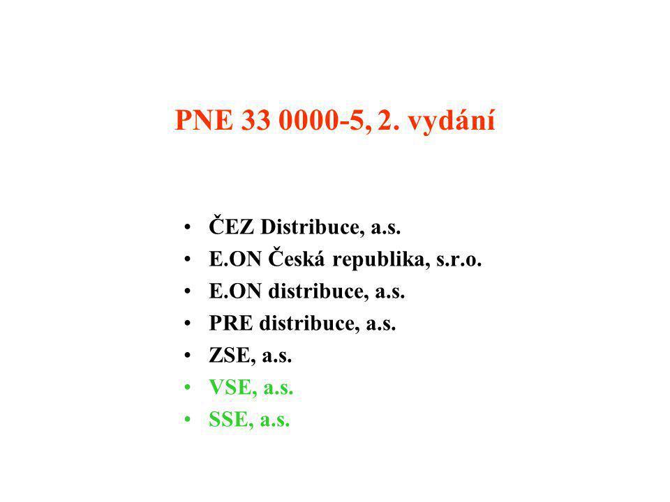 Jednotlivé verze PNE 33 0000-5 •1.2. 2001 verze k ověření (0.