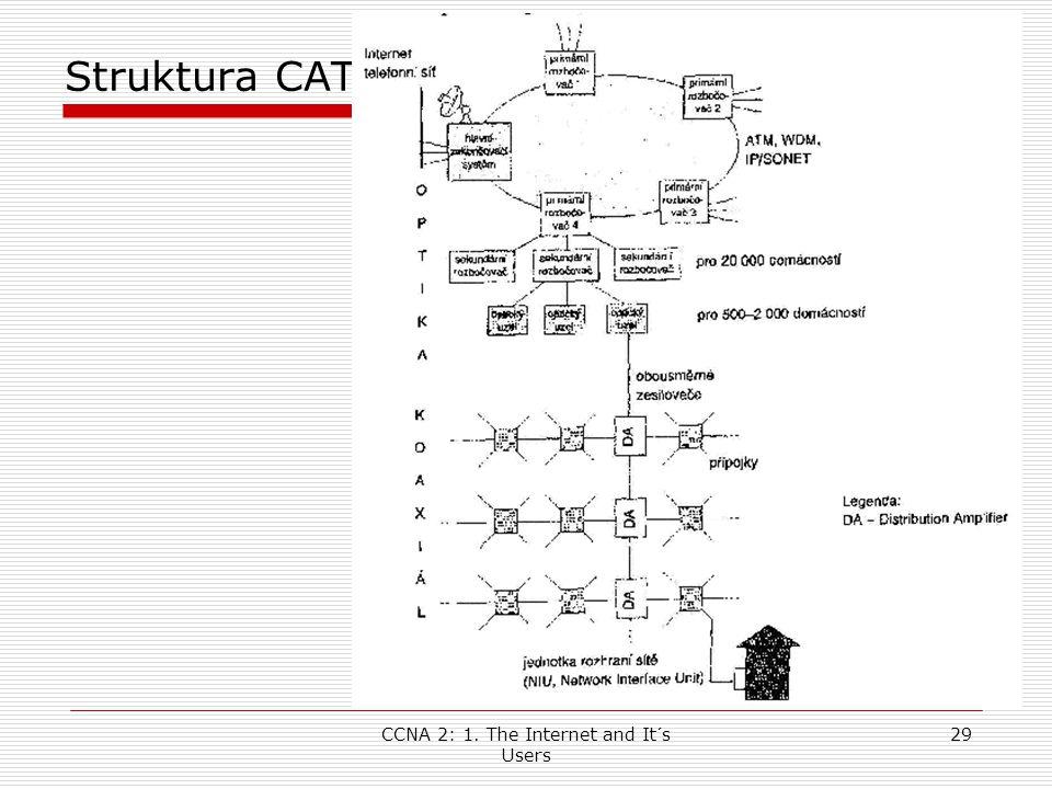 CCNA 2: 1. The Internet and It´s Users 29 Struktura CATV