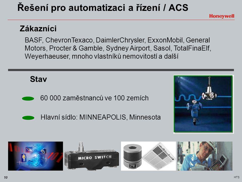 10 HTS Řešení pro automatizaci a řízení / ACS BASF, ChevronTexaco, DaimlerChrysler, ExxonMobil, General Motors, Procter & Gamble, Sydney Airport, Saso
