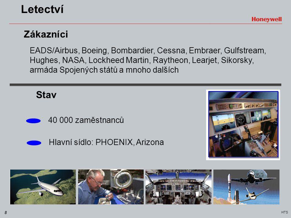 8 HTS Letectví EADS/Airbus, Boeing, Bombardier, Cessna, Embraer, Gulfstream, Hughes, NASA, Lockheed Martin, Raytheon, Learjet, Sikorsky, armáda Spojen
