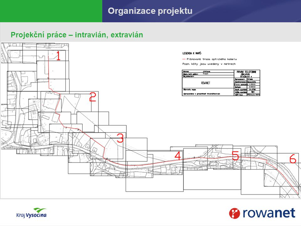 v Třešti po zdárném aktivním ověření trasy Ukončení trasy v technologickém kontejneru AV u zámku v Třešti