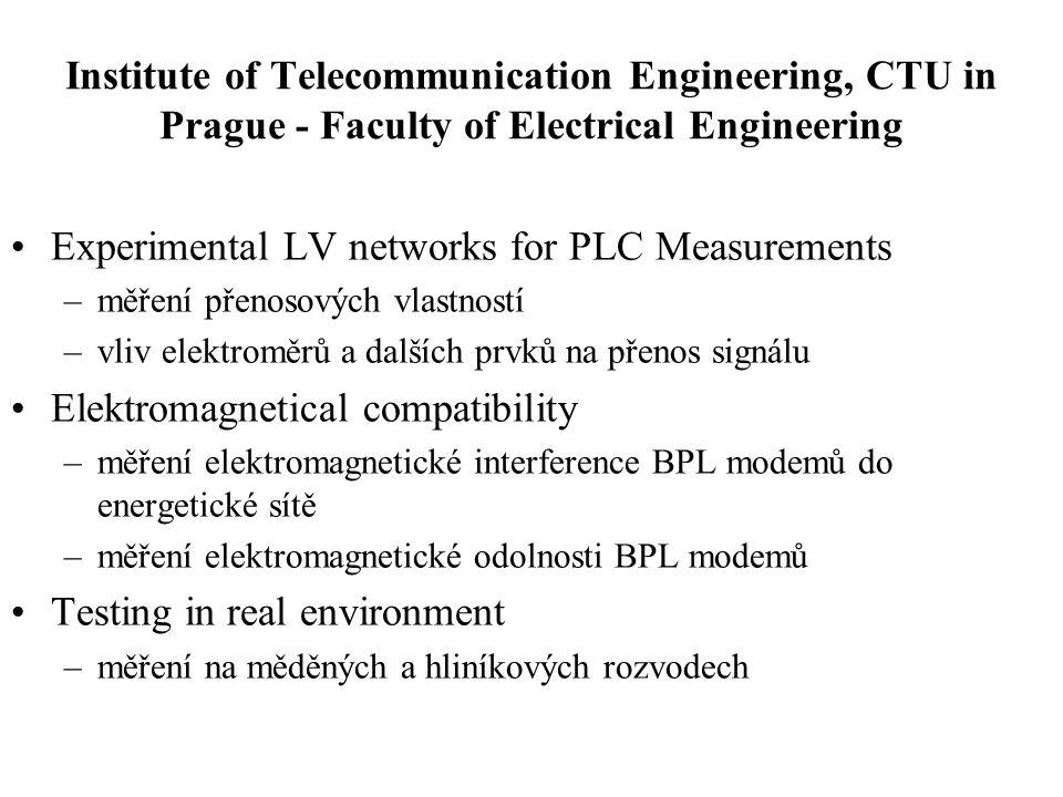 Typy nasazení PLC v lokalitách 22 a 0,4 kV •Venkovní vedení –bez opakovačů –s opakovači –meshová struktura •Podzemní kabelové vedení –bez opakovačů –s opakovači –meshová struktura